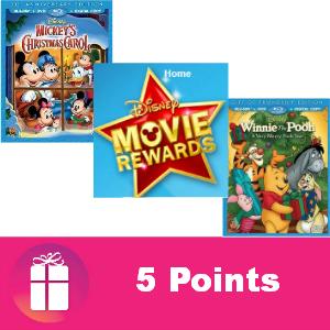 Free Disney Movie Rewards 5 pts Dec. 2