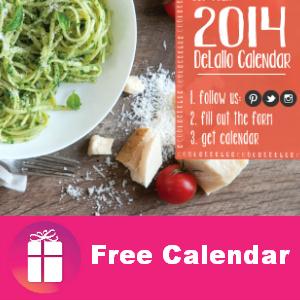 Free 2014 Calendar from DeLallo