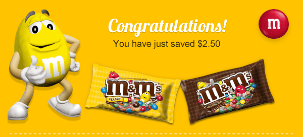 Save $2.50 on M&M's #BakingIdeas #shop