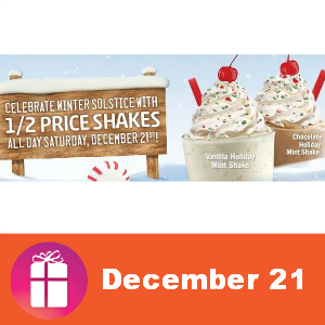 Sonic 1/2 Price Shakes Saturday