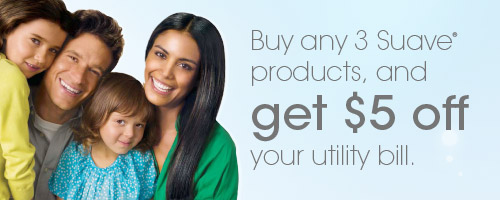 Buy 3 Suave, Get $5 off Utilities