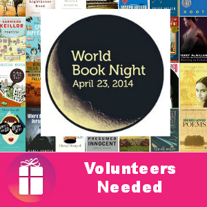 World Book Night: Volunteers Needed