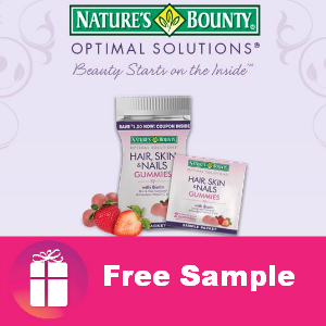 Free Sample Nature's Bounty Gummies