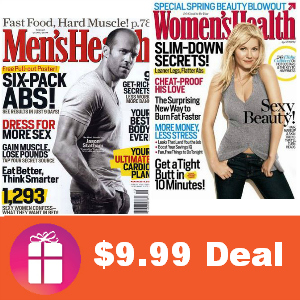 Deal Men's & Women's Health for $9.99