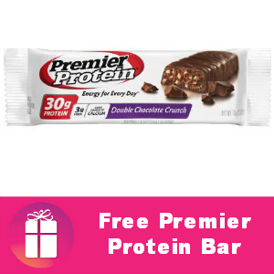 Free Premier Protein Bar at Kroger
