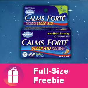 Free Hyland's Calms Forte at Noon CT