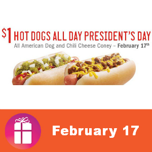 Sonic $1 All American Dogs & Coneys Feb. 17