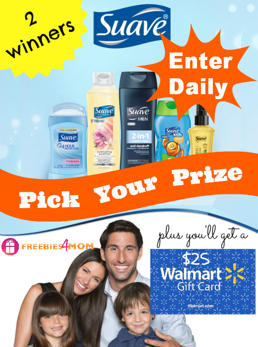 Pick Your Suave Prize + $25 Walmart Gift Card