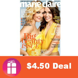 Deal $4.50 for Marie Claire Magazine