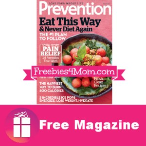 2 Free Issues of Prevention Magazine
