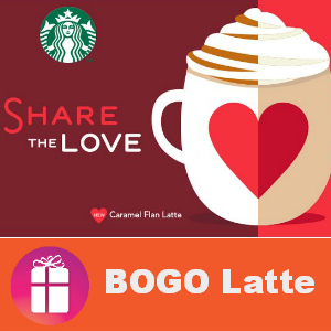 Starbucks BOGO Free Valentine's Day 2-5 pm