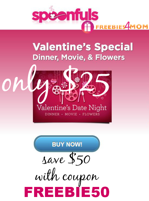 Valentine's Date Night Deal: $25 for Dinner & Movie