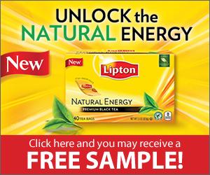 Free Sample Lipton Natural Energy Tea