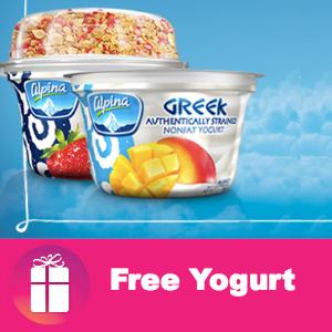 Free Alpina Greek Yogurt