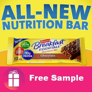 Free Sample Carnation Breakfast Bar