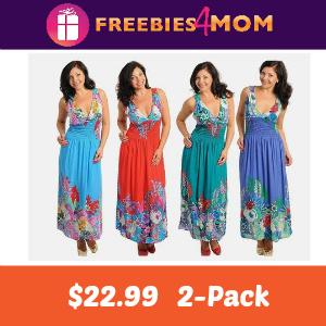2-Pack Floral Maxi Dresses $22.99