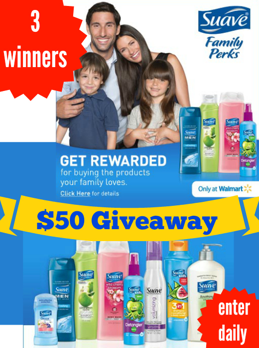 $50 Suave Family Perks Giveaway (3 winners)