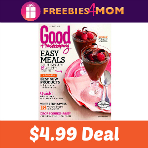Magazine Deal Good Housekeeping $4.99