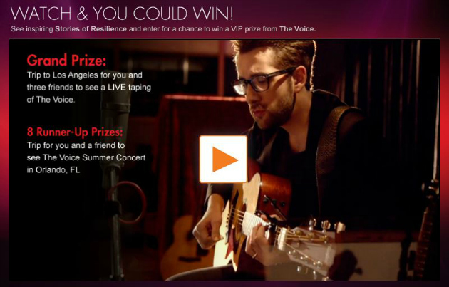 The Voice Resilient Stories Sweepstakes