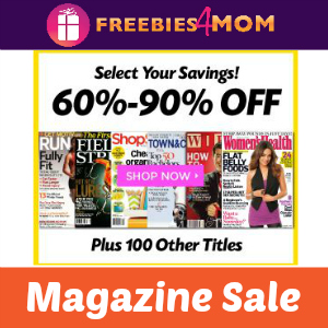 Magazine Sale up to 90% Off