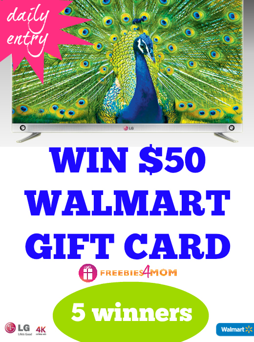 $50 Walmart Gift Card Giveaway - Discover LG 4K TV