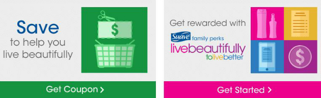 Double Savings:  Suave Coupon + Suave Family Perks