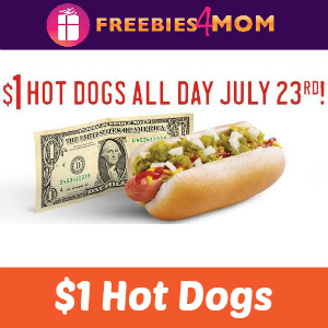 $1 All-American & Chili Cheese Dogs TODAY