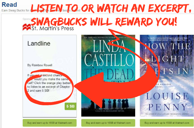 Earn More Swagbucks:  Read