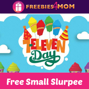 Free Small Slurpee at 7-Eleven Tomorrow