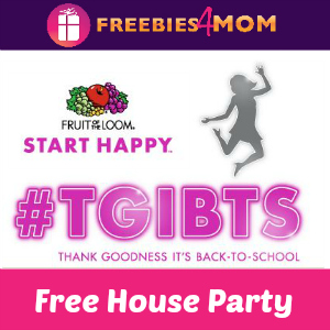 Free House Party: Fruit of the Loom #TGIBTS