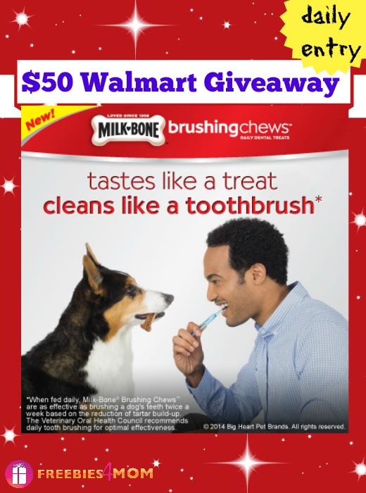 $50 Walmart Gift Card Giveaway from Milk-Bone Brushing Chews