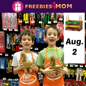 Free Kids Workshop August 2 at Home Depot