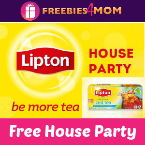 Free House Party: Lipton Be More Tea