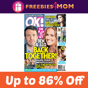 Magazine Deal: OK! (Up to 86% Off)