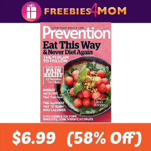 Magazine Deal: Prevention $6.99 (58% Off)