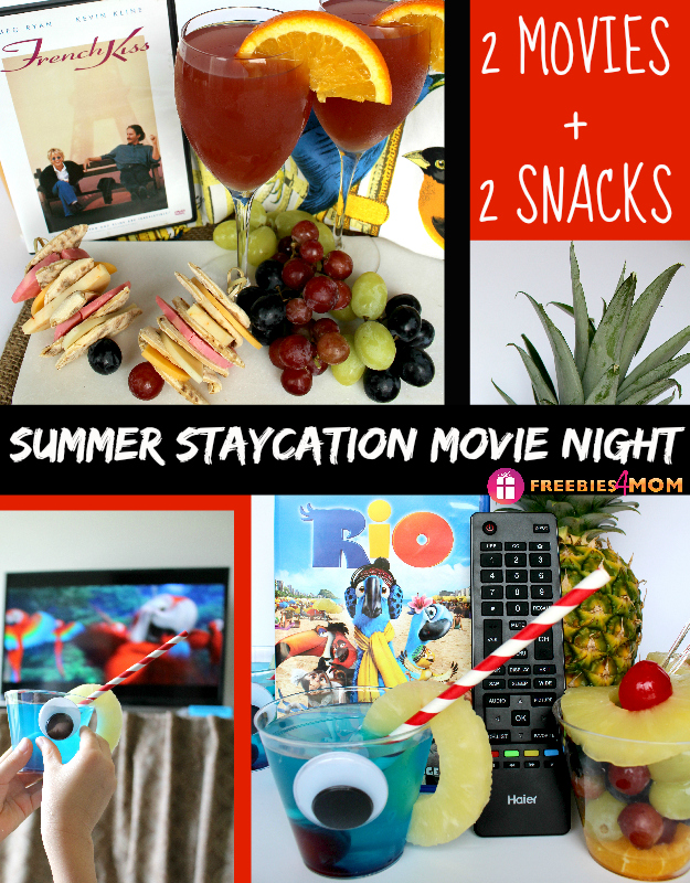 Summer Staycation Movie Night - 2 Movies + 2 Movie Snacks