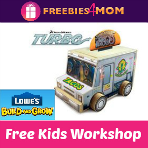 Free Turbo Taco Truck Lowe's Kids Clinic 7/26