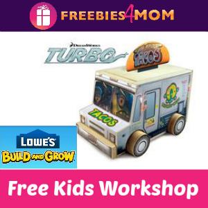 Free Turbo Taco Truck Lowe's Kids Clinic 7/26