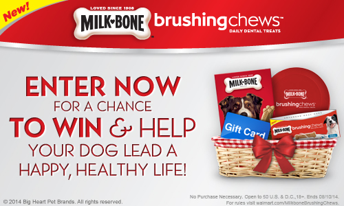 Milk-Bone® Brushing Chews™ Dental Dog Treats Sweepstakes