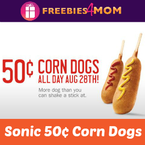 Sonic 50¢ Corn Dogs Thursday