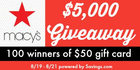 Macy's $5,000 Giveaway