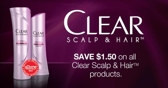 $1.50 Clear Scalp & Hair Printable Coupon