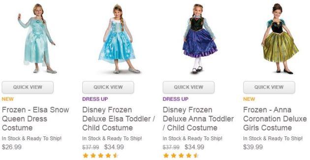 Disney Frozen Costume Deals