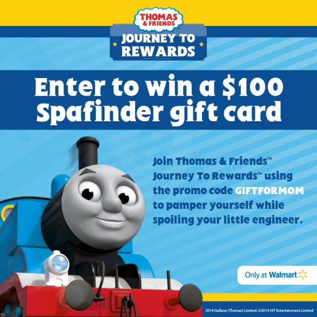 Thomas & Friends Journey To Rewards $100 Spa Finder Gift Card Giveaway