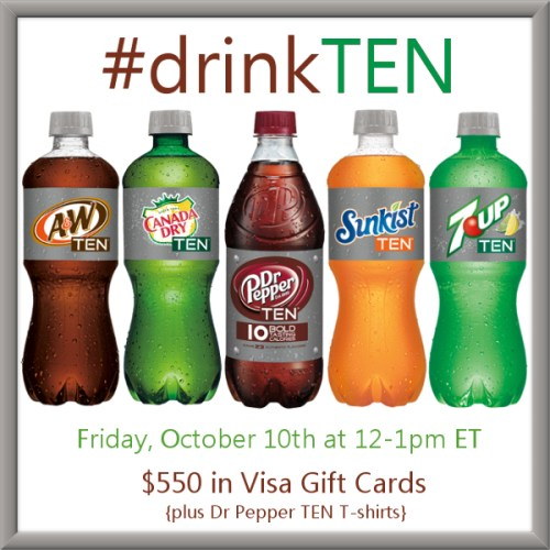 #drinkTEN -Twitter-Party-10-10-at-12pmET #TwitterParty, #shop, sweepstakes on Twitter