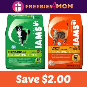 Save $2.00 on IAMS Dry Cat or Dog Food