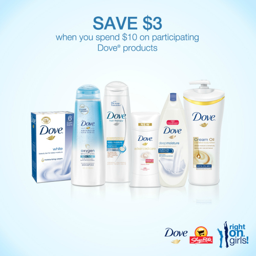 Save $3 on $10 of Dove products at ShopRite