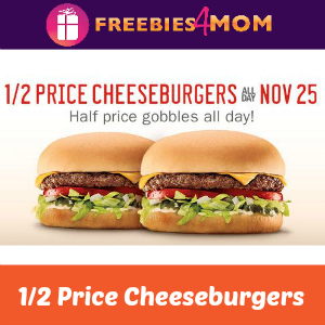 1/2 Price Cheeseburgers at Sonic Tomorrow