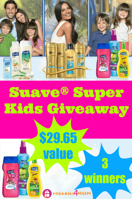 Super Suave® Kids Giveaway (3 winners)