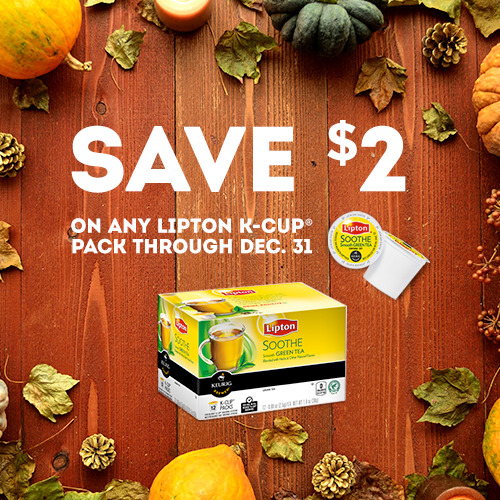 $3.99 Lipton K-Cups at Walgreens with $2 Printable Coupon